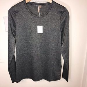 Banana Republic lurex, (metallic) long sleeve tee
